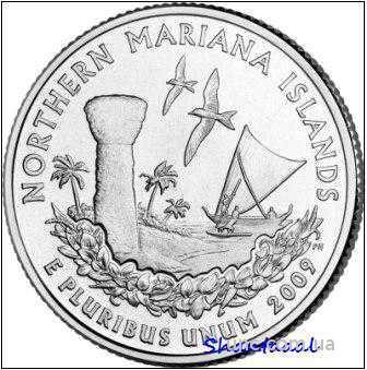 Shantal, 25 центов 2009, Территория США Марианские о-ва