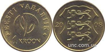 Shantaaal, Эстония 1 крона 2008 год, 90 лет Эстонской республике