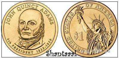 Shantaaal, 1 доллар 2008, Джон Куинси Адамс, 6 Президент США