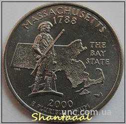 Shantal, 25 центов 2000, Штат США Массачусетс