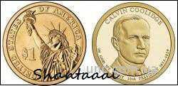 Shantal, 1 доллар 2014, Калвин Кулидж,  30 президент США