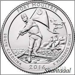 Shantal, 25 центов 2016, 35 Парк США, Форд Молтри