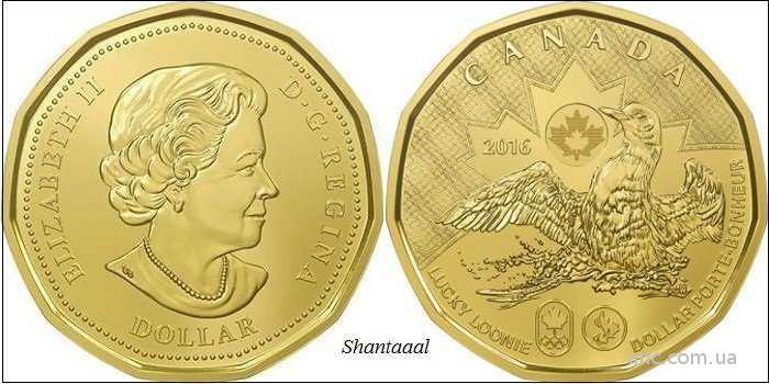 Shantaaal, Канада 1 доллар 2016 Олимпиада в Рио