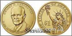 Shantal, 1 доллар 2015, Дуайт Эйзенхауэр, 34 президент США