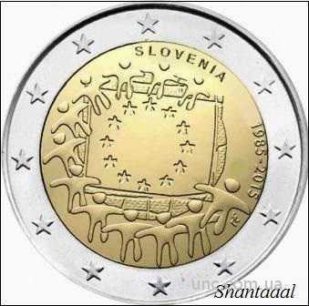 Shantaaal, Словения 2 Евро 2015, 30 лет Флагу, UNC