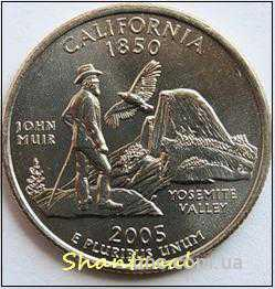 Shantal, 25 центов 2005, Штат США Калифорния