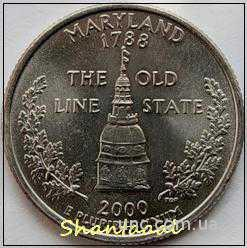 Shantal, 25 центов 2000, Штат США Мэриленд