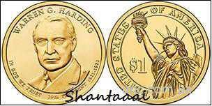 Shantal, 1 доллар 2014, Уоррен Гардинг, 29 президент США