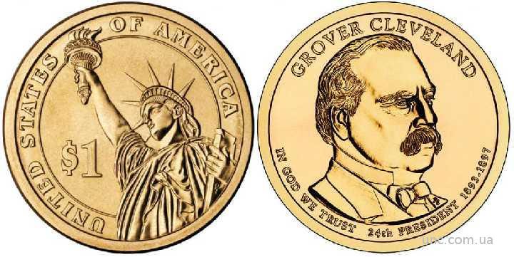 Shantaaal,1 доллар 2012, Гровер Кливленд, 24 президент США