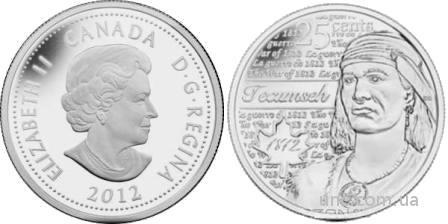 Shantaaal, Канада 25 центов 2012, Текумсе (пруф), UNC
