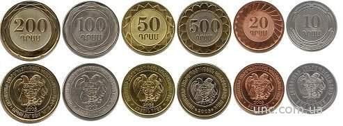 Shantaaal, АРМЕНИЯ Набор 6 монет 2003. UNC