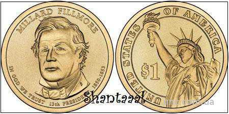 Shantaaal, 1 доллар 2010, Миллард Филлмор, 13 президент США