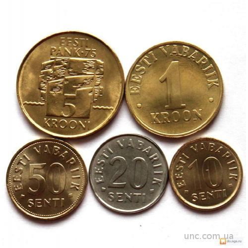Shantaaal, Эстония набор 5 монет