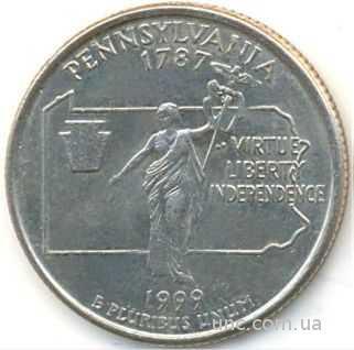 Shantal, 25 центов 1999, Штат США Пенсильвания