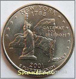 Shantal, 25 центов 2001, Штат США Нью-Йорк