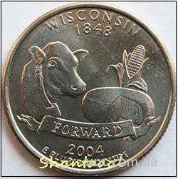 Shantal, 25 центов 2004, Штат США Висконсин
