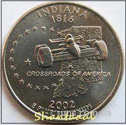 Shantal, 25 центов 2002, Штат США Индиана