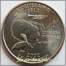 Shantal, 25 центов 2002, Штат США Луизиана