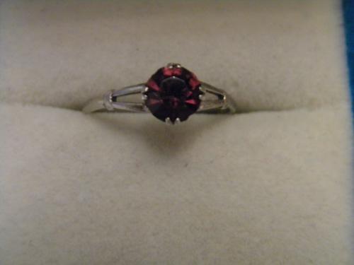 Кольцо Камень Серебро 875 проба Звезда №910