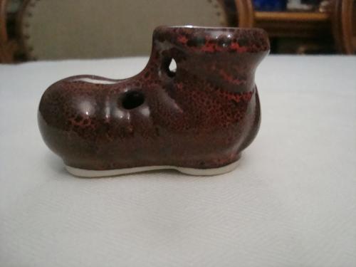 Коллекционный Туфелька Башмак Ботинок Керамика №Б99