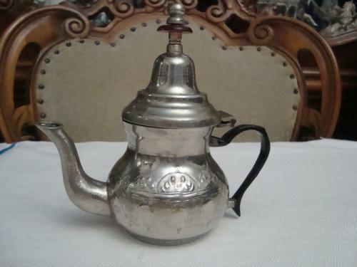 Красивый Старинный Коллекционный Чайник Чеканка