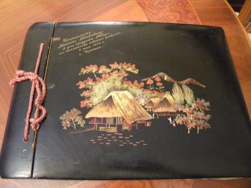 Редкий Альбом для фотографий ( фото ) Дерево Лак Китай 1950 годов