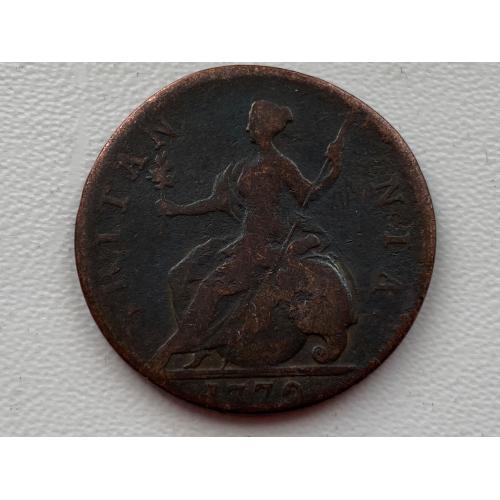 Англия 1\2 пенни 1772 год №103