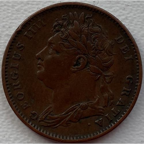 Англия 1 фартинг 1825 год ОТЛИЧНЫЙ СОХРАН!!! №105