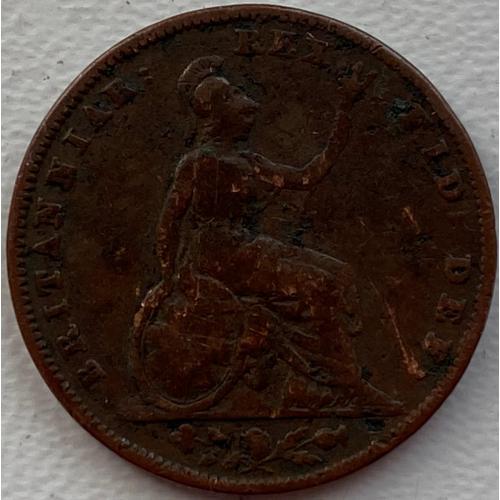 Англия 1 фартинг 1837 год  №107