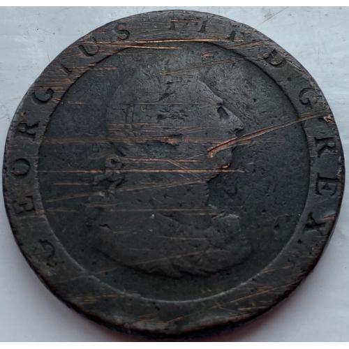 Англия 1 пенни 1797 год №238