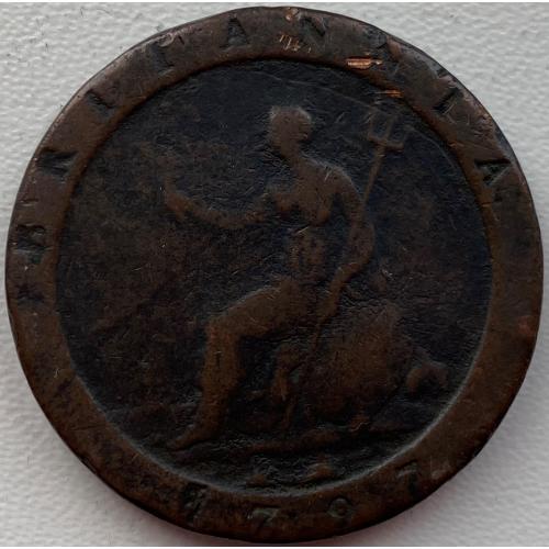 Англия 1 пенни 1797 год №239
