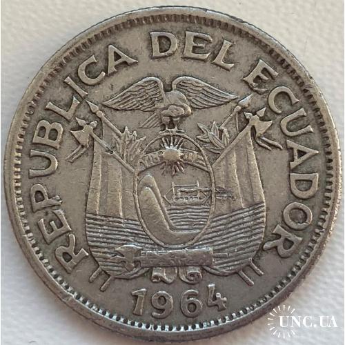 Эквадор 1 сукре 1964 год СОСТОЯНИЕ!!!!!!!