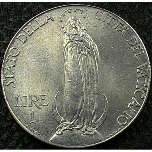 Ватикан 1 лира 1941 год