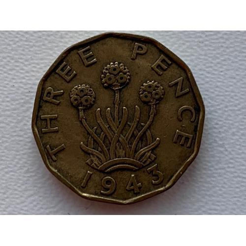 Великобританія 3 пенса 1943  №77