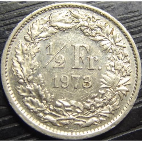 1/2 франка 1973 Швейцарія