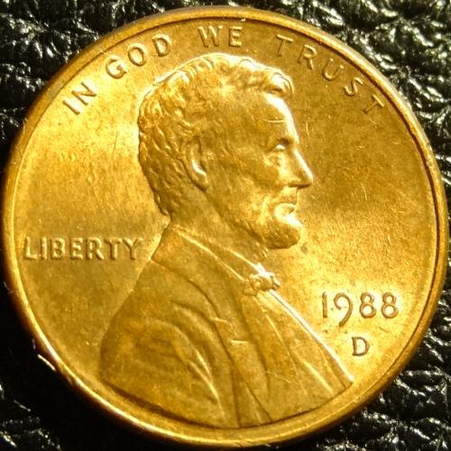 1 цент 1988 D США