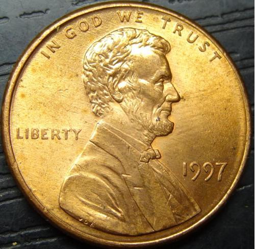 1 цент 1997 США
