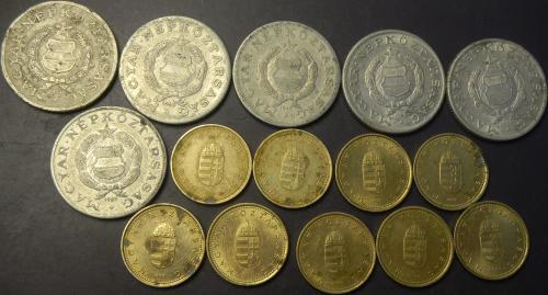 1 форінт Угорщина (порічниця), 15шт, всі різні