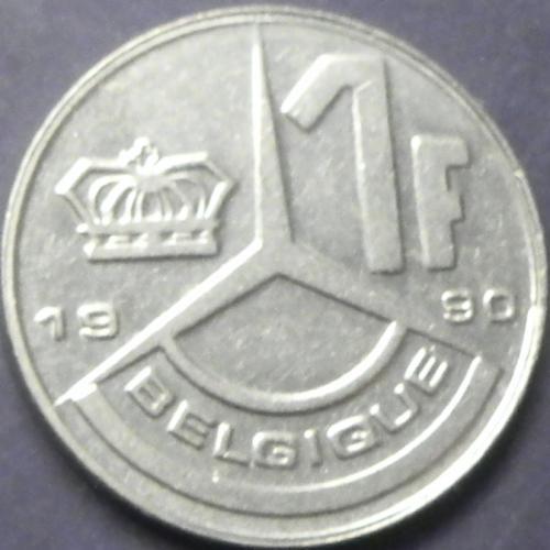 1 франк 1990 Бельгія Belgique