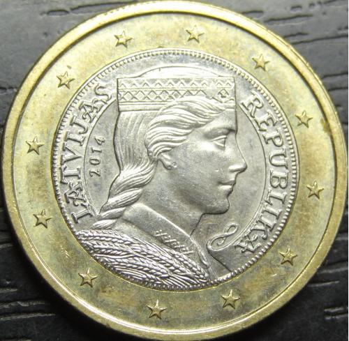 1 євро 2014 Латвія