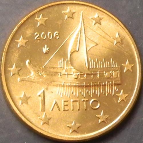 1 євроцент 2006 Греція UNC