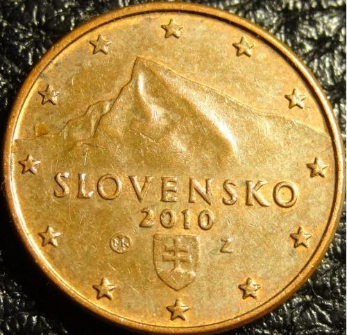 1 євроцент 2010 Словаччина