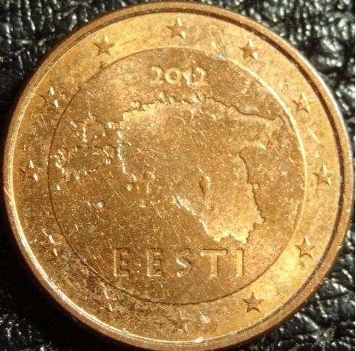 1 євроцент 2012 Естонія