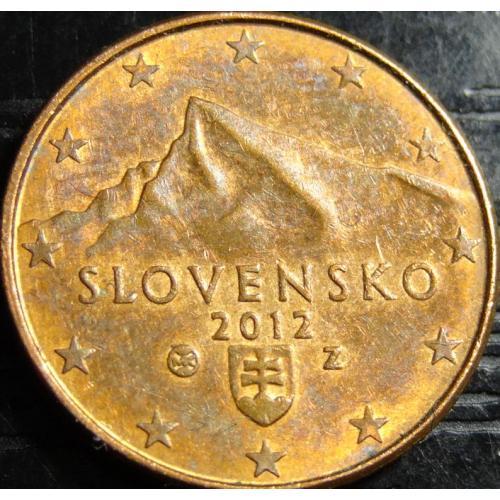 1 євроцент 2012 Словаччина