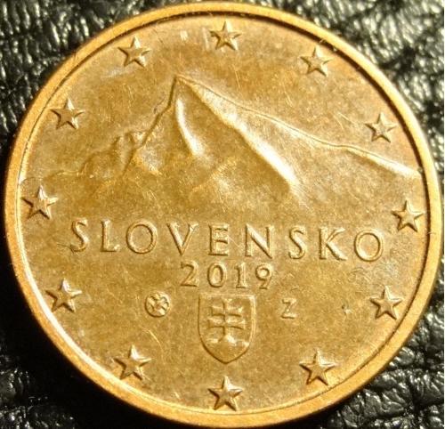 1 євроцент 2019 Словаччина