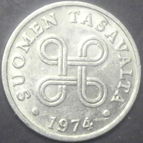 1 пенні 1974 Фінляндія