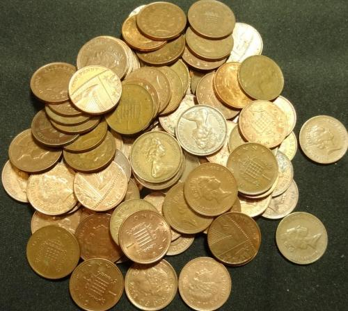 1 пенні Британія 100шт суперлот