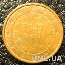 1 євроцент 2012 Португалія