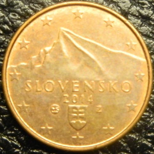 1 євроцент 2014 Словаччина