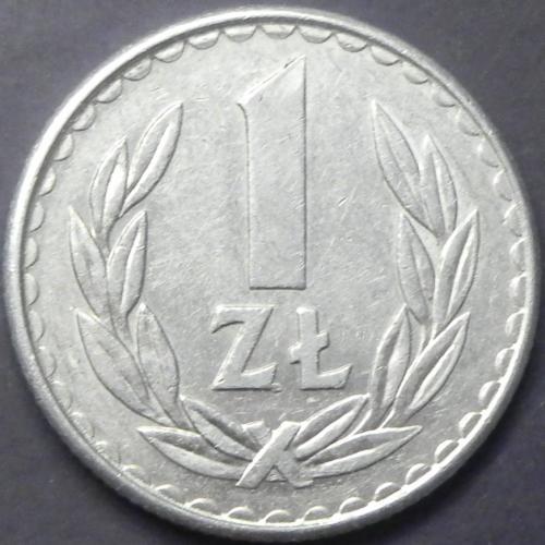 1 злотий 1986 Польща